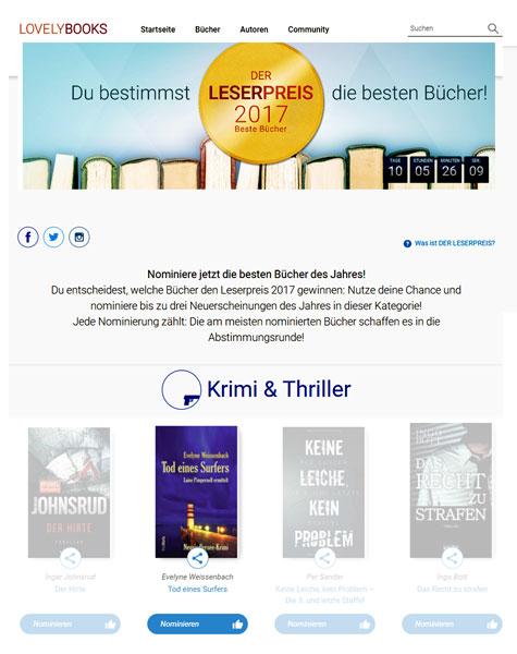 nominierung lovelybooks