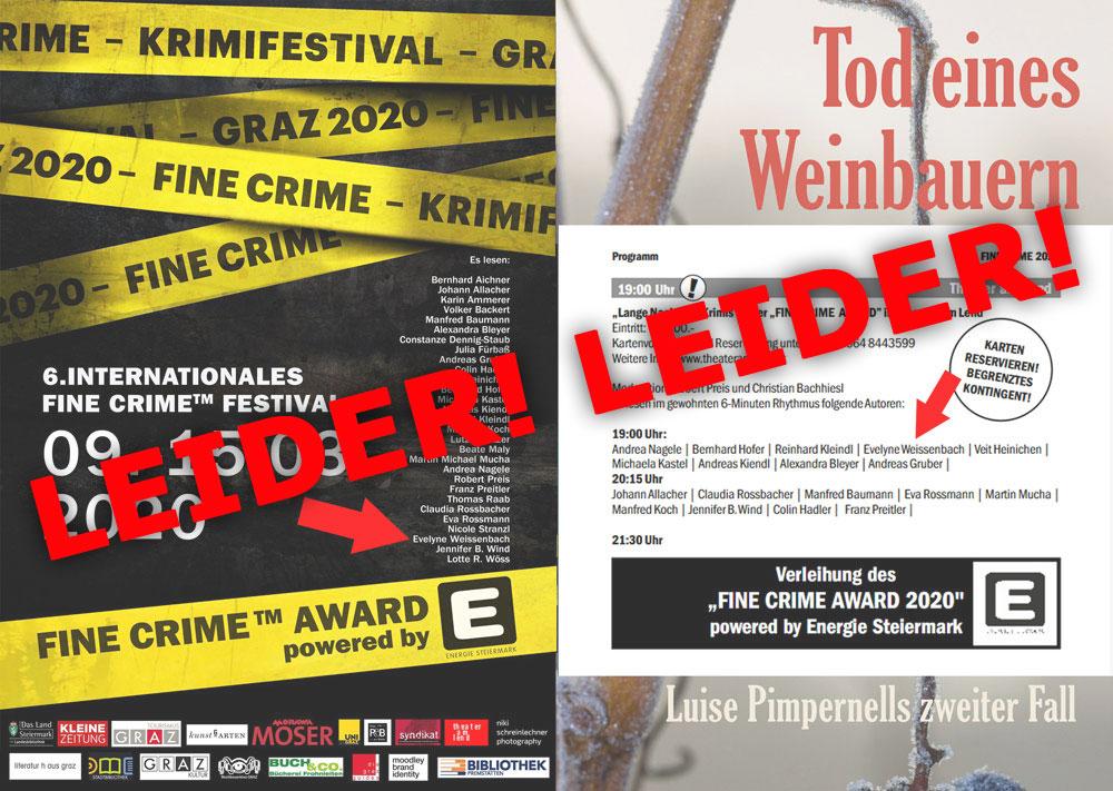 absage krimifestival